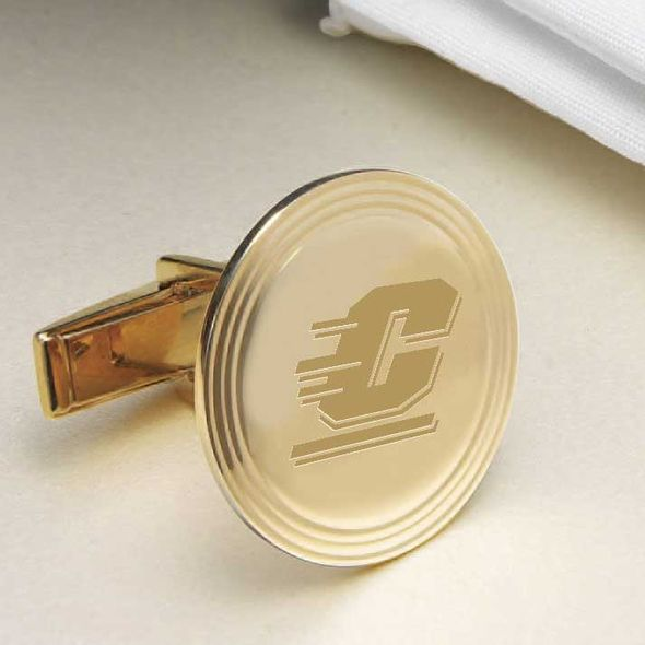 Central Michigan 18K Gold Cufflinks - Image 2