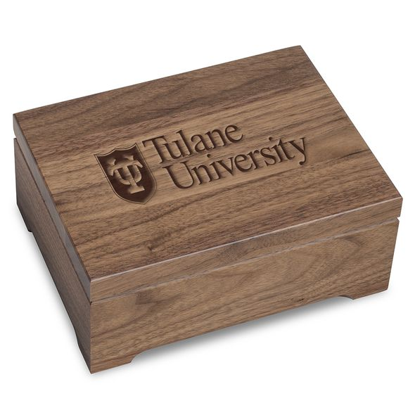 Tulane University Solid Walnut Desk Box