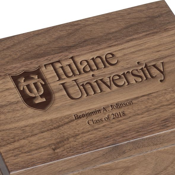 Tulane University Solid Walnut Desk Box - Image 3