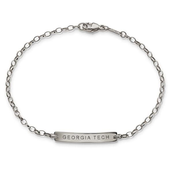Georgia Tech Monica Rich Kosann Petite Poesy Bracelet in Silver