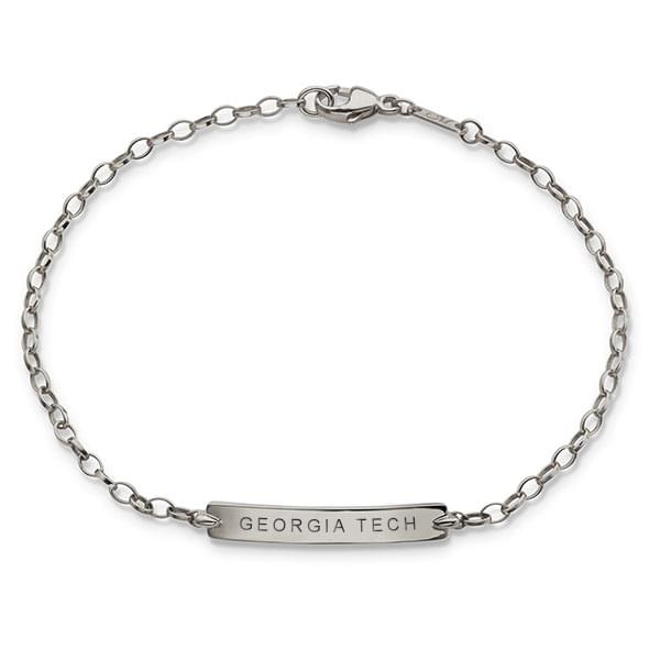 Georgia Tech Monica Rich Kosann Petite Poesy Bracelet in Silver