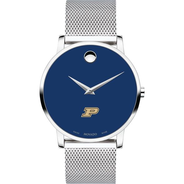 Purdue University Men's Movado Museum with Blue Dial & Mesh Bracelet - Image 2