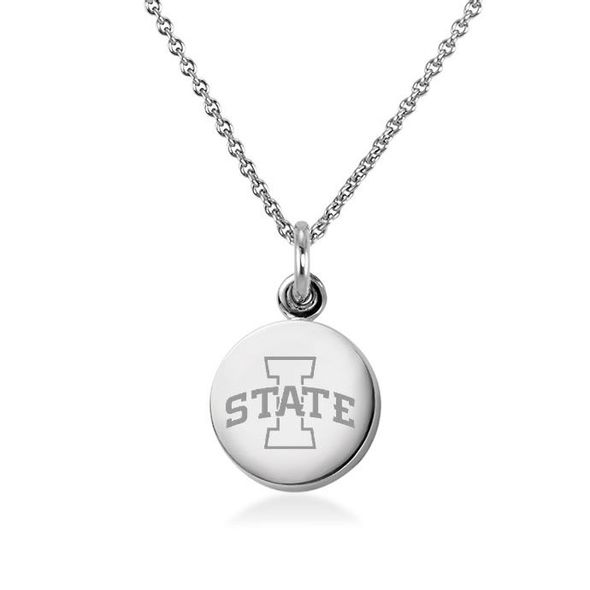 Iowa State University Necklace with Charm in Sterling Silver