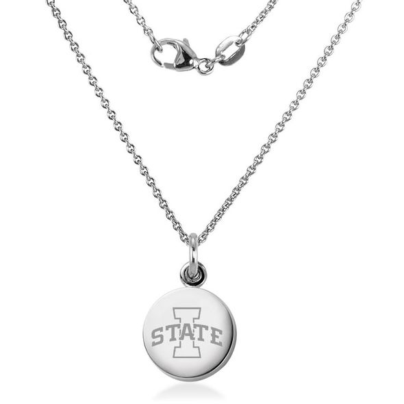 Iowa State University Necklace with Charm in Sterling Silver - Image 2