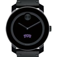 Texas Christian University Men's Movado BOLD with Leather Strap