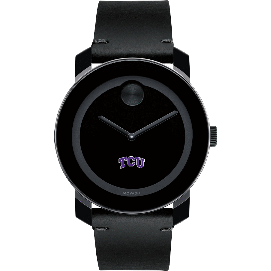 TCU Men's Movado BOLD with Leather Strap - Image 2