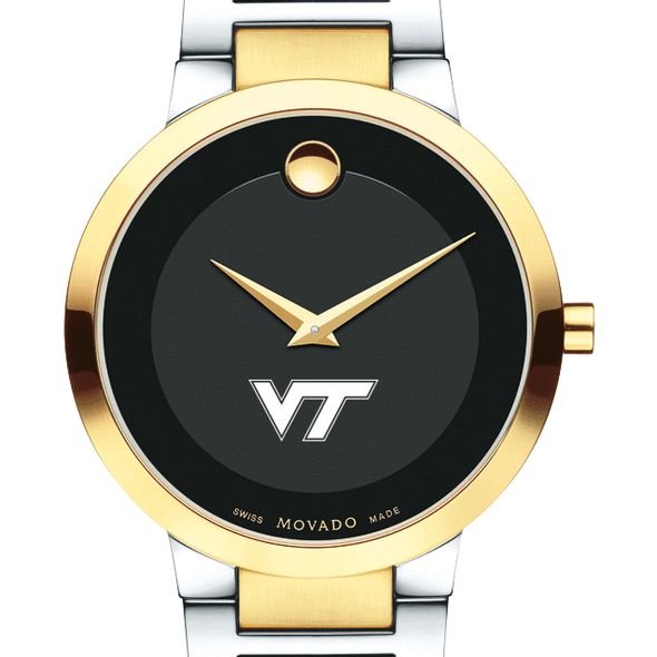 Virginia Tech Men's Movado Two-Tone Modern Classic Museum with Bracelet