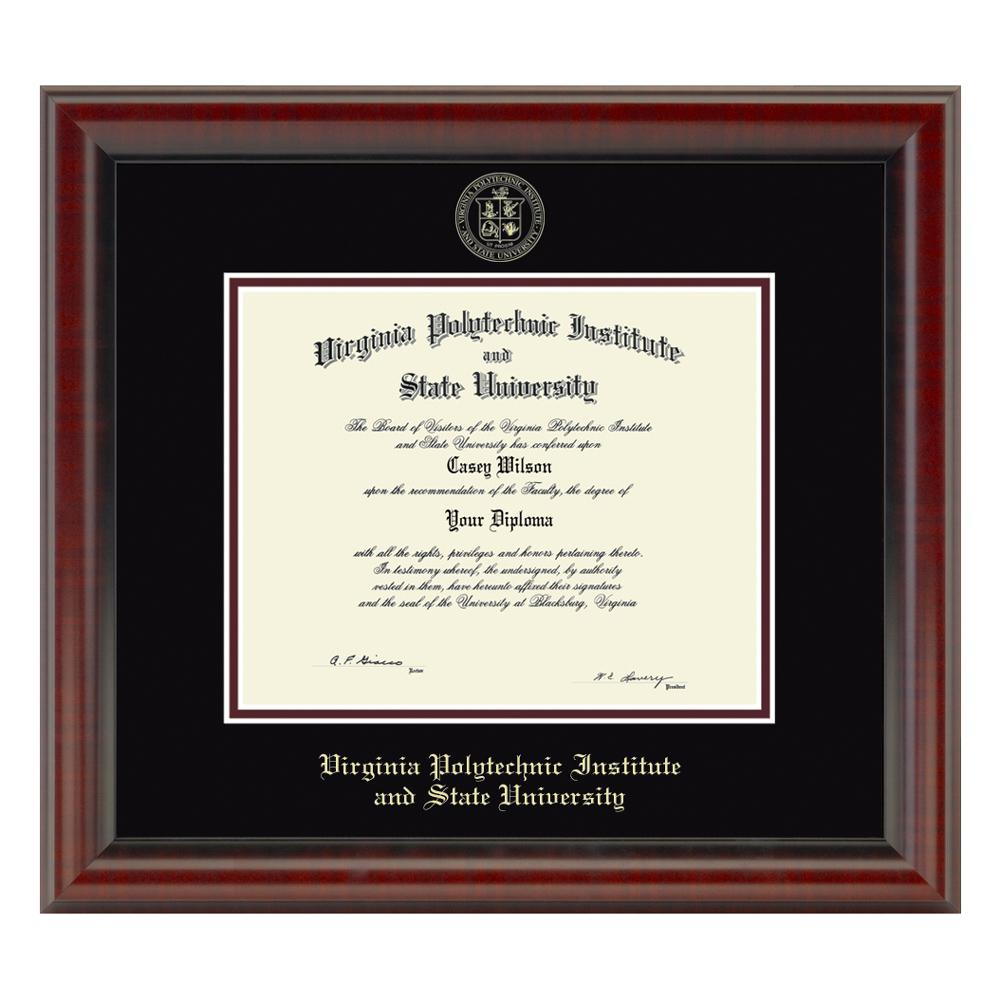 Virginia Tech Diploma Frame, the Fidelitas