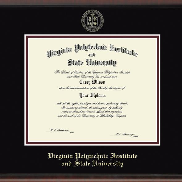 Virginia Tech Diploma Frame, the Fidelitas - Image 2