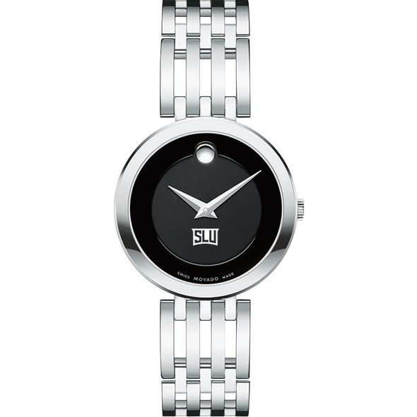 Saint Louis University Women's Movado Esparanza Stainless Steel Museum with Bracelet - Image 2