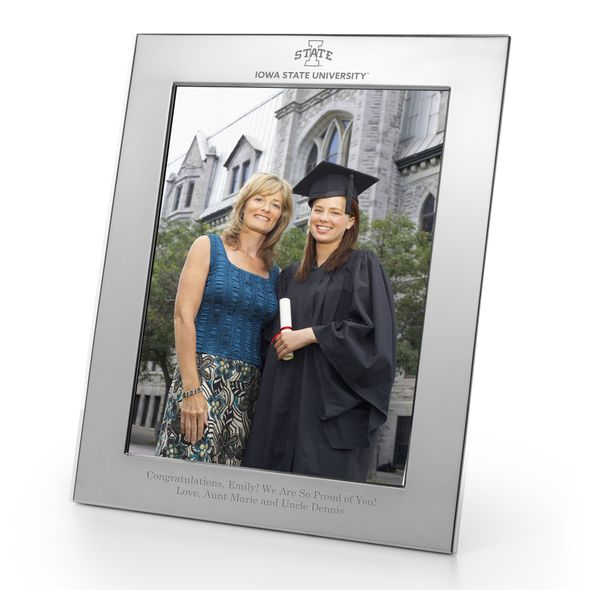 Iowa State University Polished Pewter 8x10 Picture Frame