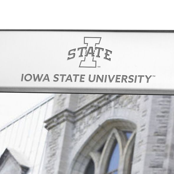 Iowa State University Polished Pewter 8x10 Picture Frame - Image 2