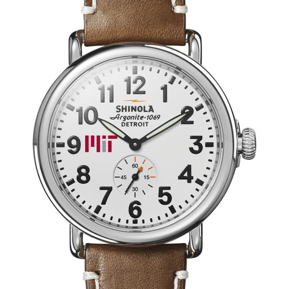 MIT Shinola Watch, The Runwell 41mm White Dial - Image 1