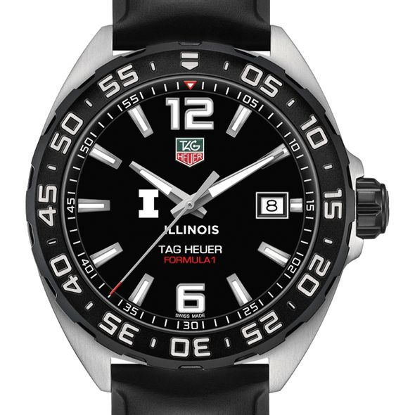 University of Illinois Men's TAG Heuer Formula 1 with Black Dial