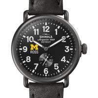 Michigan Ross Shinola Watch, The Runwell 41mm Black Dial