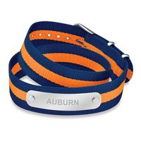 Auburn University Double Wrap NATO ID Bracelet