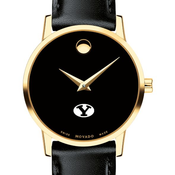 Brigham Young University Women's Movado Gold Museum Classic Leather