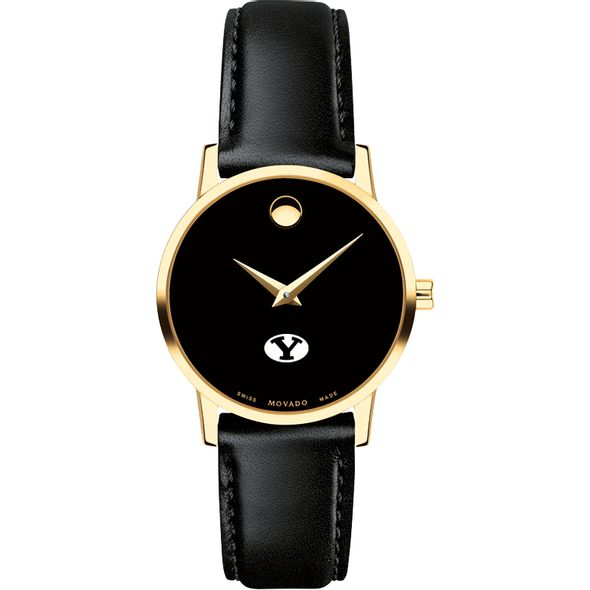 Brigham Young University Women's Movado Gold Museum Classic Leather - Image 2