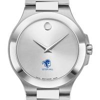 Seton Hall Men's Movado Collection Stainless Steel Watch with Silver Dial