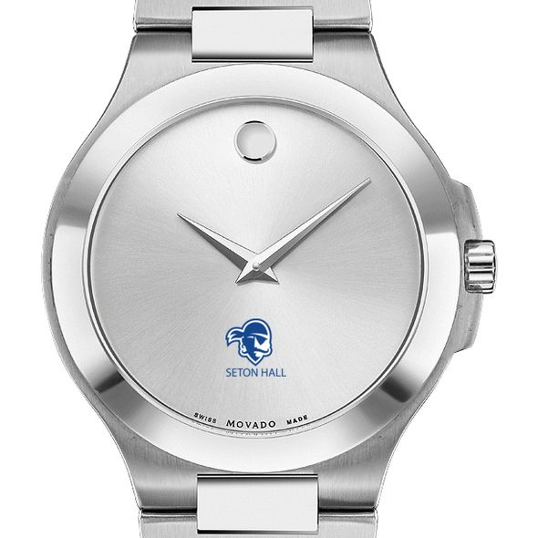 Seton Hall Men's Movado Collection Stainless Steel Watch with Silver Dial - Image 1