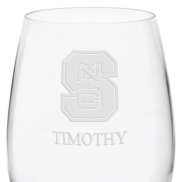 North Carolina State Red Wine Glasses - Set of 4 - Image 3