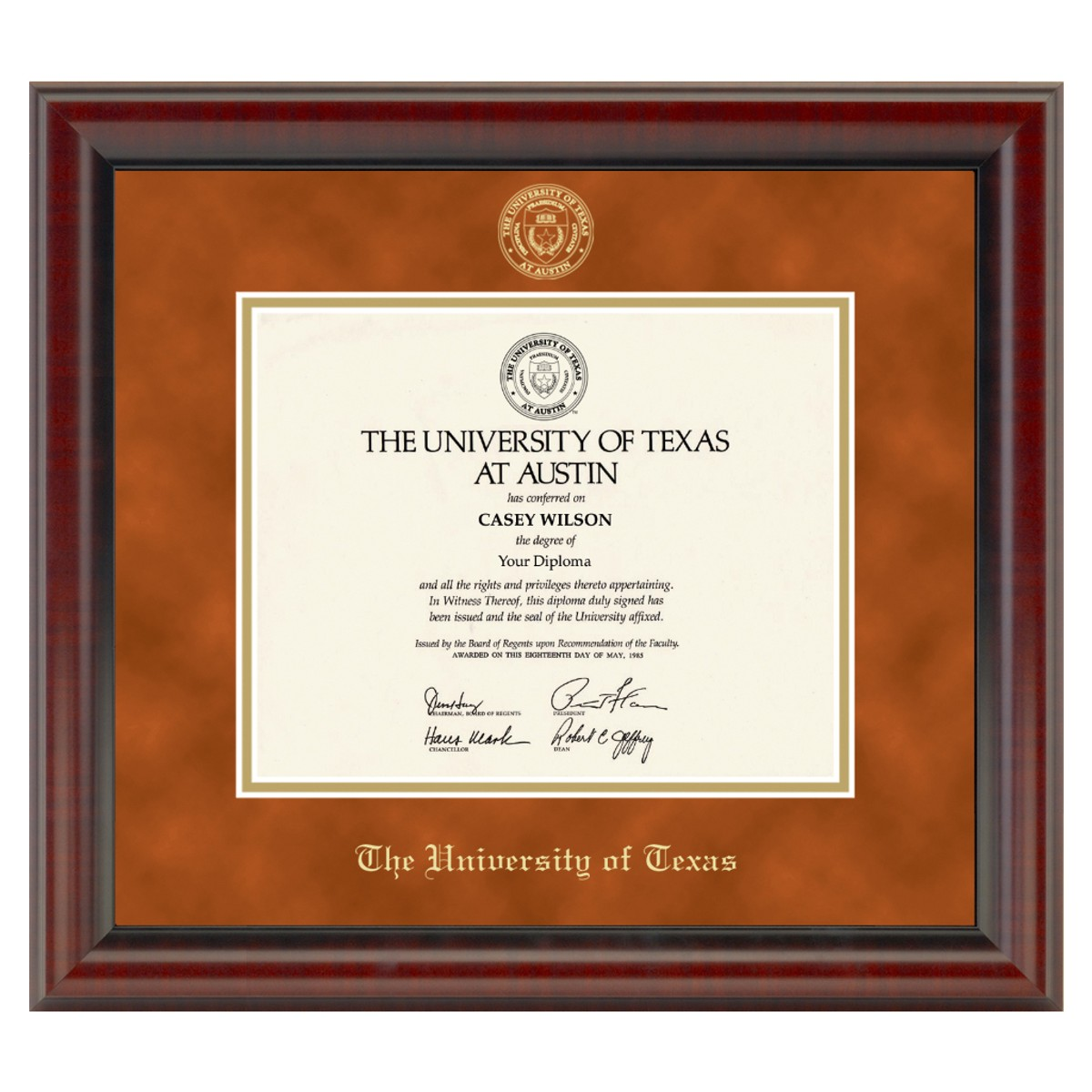 Official University Of Texas Diploma Frame The Fidelitas