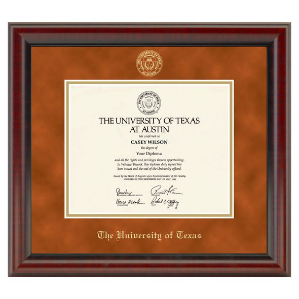 Official University of Texas Diploma Frame, the Fidelitas ...