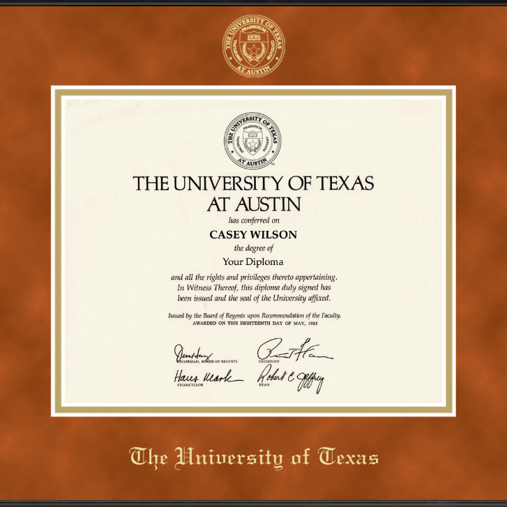 University of Texas Diploma Frame, the Fidelitas - Image 2
