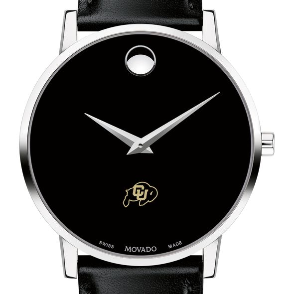 Colorado Men's Movado Museum with Leather Strap - Image 1