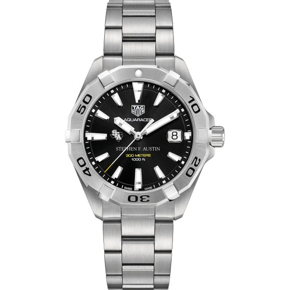 SFASU Men's TAG Heuer Steel Aquaracer with Black Dial - Image 2