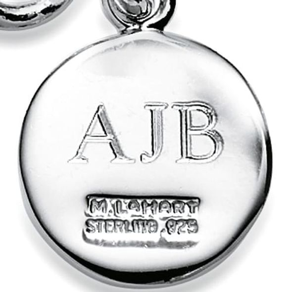 NYU Sterling Silver Insignia Key Ring - Image 3