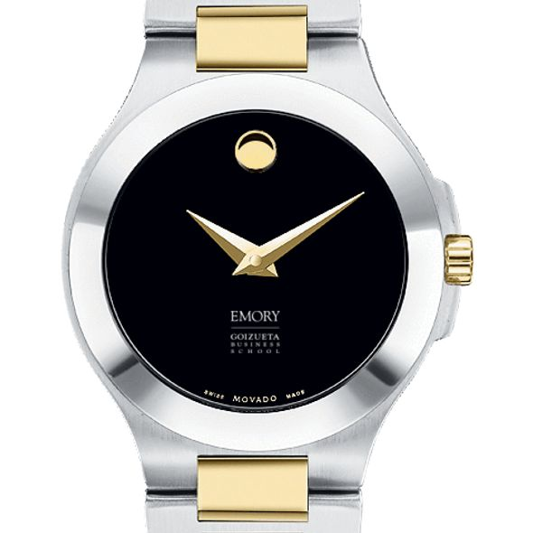 Emory Goizueta Women's Movado Collection Two-Tone Watch with Black Dial - Image 1