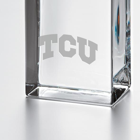TCU Tall Class Desk Clock by Simon Pearce - Image 2