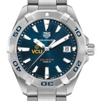 Virginia Commonwealth University Men's TAG Heuer Steel Aquaracer with Blue Dial