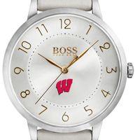 University of Wisconsin Women's BOSS White Leather from M.LaHart
