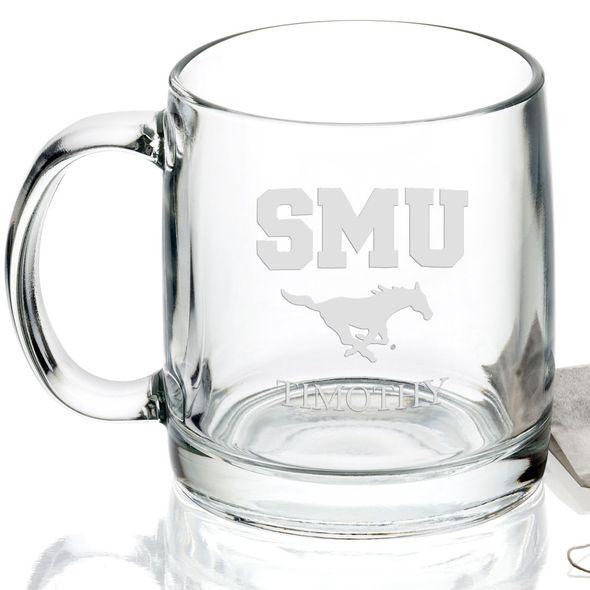 Southern Methodist University 13 oz Glass Coffee Mug - Image 2