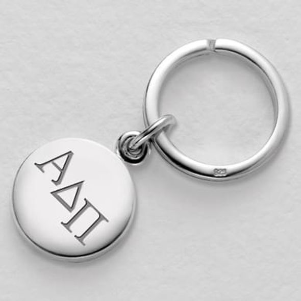Alpha Delta Pi Sterling Silver Insignia Key Ring - Image 1
