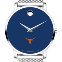 University of Texas Men's Movado Museum with Blue Dial & Mesh Bracelet