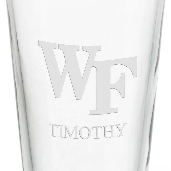 Wake Forest University 16 oz Pint Glass - Image 3
