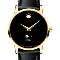 NYU Stern Women's Movado Gold Museum Classic Leather