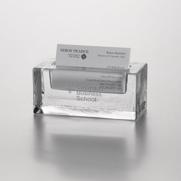 Columbia Business Glass Business Cardholder by Simon Pearce