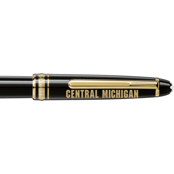 Central Michigan Montblanc Meisterstück Classique Rollerball Pen in Gold - Image 2