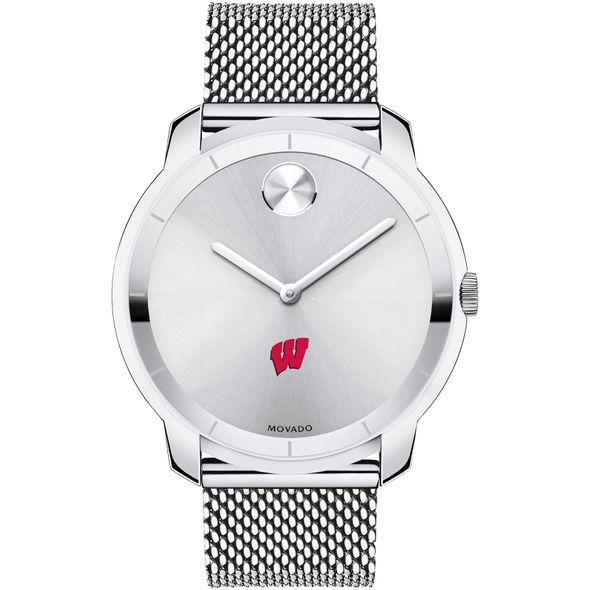 University of Wisconsin Men's Movado Stainless Bold 44 - Image 2