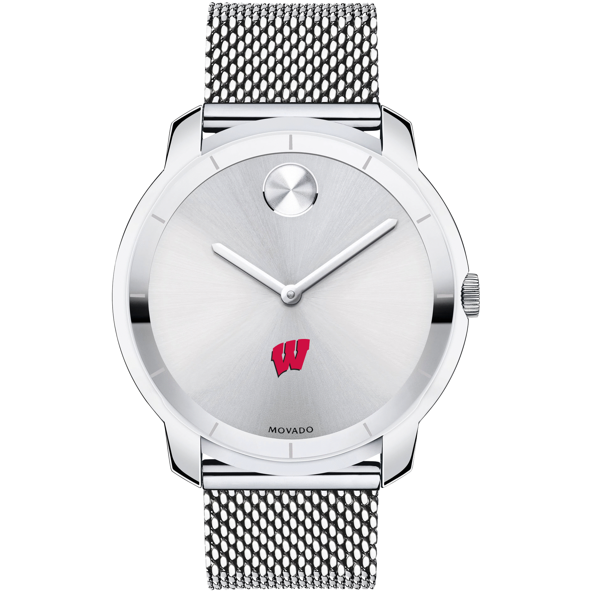 Wisconsin Men's Movado Stainless Bold 44 - Image 2
