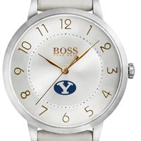 Brigham Young University Women's BOSS White Leather from M.LaHart