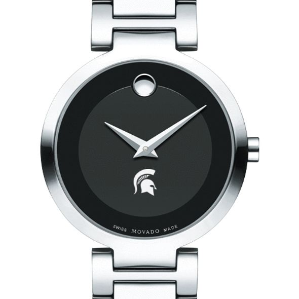 Michigan State University Women's Movado Museum with Steel Bracelet