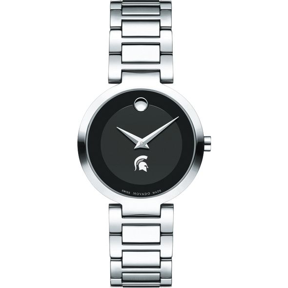 Michigan State University Women's Movado Museum with Steel Bracelet - Image 2