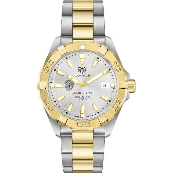 Georgetown University Men's TAG Heuer Two-Tone Aquaracer - Image 2