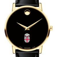 Brown Men's Movado Gold Museum Classic Leather