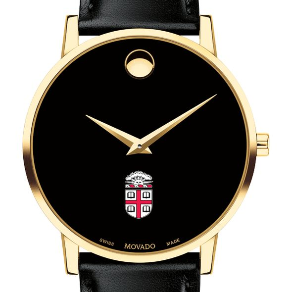 Brown University Men's Movado Gold Museum Classic Leather